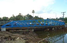 Pipe Support Bridge (40m span) - Fiji